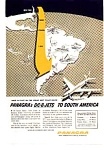 Click here to enlarge image and see more about item auc3713: Panagra DC-8 Jets to South America Ad auc3713