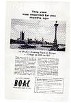 BOAC Economy Tours of Europe Ad