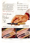 Click here to enlarge image and see more about item auc3726: Parker 51 Aero Metric Pen Ad 1949
