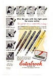 Click here to enlarge image and see more about item auc3727: Esterbrook Fountain Pen Line Ad 1954