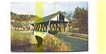 Lyndon VT Covered Bridge Postcard aug0455