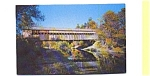 Click here to enlarge image and see more about item aug1153: Saxtons River Bridge VT Postcard