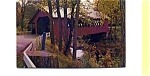 Covered  Bridge Brattleboro VT Postcard