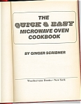 Click here to enlarge image and see more about item b0002: The Quick and Easy Microwave Cookbook