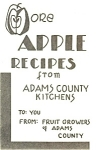 Click here to enlarge image and see more about item b0148: More Apple Recipes  Booklet