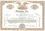 Click here to enlarge image and see more about item b0716: Cinerama, Inc Stock Certificate 1970