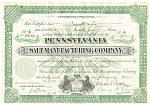Click here to enlarge image and see more about item b0717: PA Salt Manufacturing Co Stock Certificate 1932 b0717
