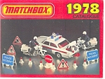 Click here to enlarge image and see more about item b0765: Matchbox Catalogue 1978