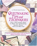 Click here to enlarge image and see more about item b0953: Quiltmaking Tips and Techniques