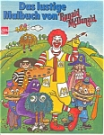 Click here to enlarge image and see more about item b0973: Ronald McDonald Coloring Book in German