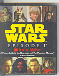 Click here to enlarge image and see more about item b1064: Star Wars Episode 1 Who is Who Pocket Guide