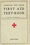 Click here to enlarge image and see more about item b1408: American Red Cross First Aid Text-Book