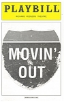 Click here to enlarge image and see more about item bk0007: Movin Out Richard Rodgers Theatre Playbill