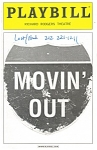 Click here to enlarge image and see more about item bk0010: Movin Out ,Richard Rodgers Theatre Playbill 2003