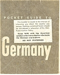 Click here to enlarge image and see more about item bk0020: WWII GI Pocket Guide to Germany