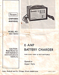 Sears Battery Charger Owners Manual