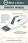 Click here to enlarge image and see more about item bk0080: Black and Decker Cordless Grass Shear Manual bk0080