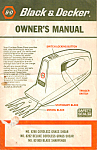 Click here to enlarge image and see more about item bk0095: Black and Decker Cordless Grass Shear Manual bk0095