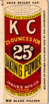KC Baking Powder Memo Book bk0251 1936