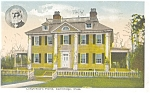 Longfellow's Home in Cambridge MA Postcard