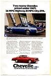 1976 Chevrolet Chevelle Malibu Six  Ad