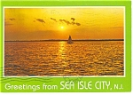 Click here to enlarge image and see more about item cs0011: Sunset at Sea Isle City NJ Postcard cs0011