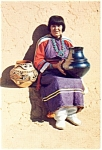 Click here to enlarge image and see more about item cs0012: Maria The Pottery Maker NM Postcard cs0012