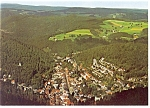 Click here to enlarge image and see more about item cs0014: Aerial View of Triberg Germany Postcard cs0014