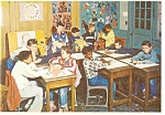 Click here to enlarge image and see more about item cs0024: Boys Town NE Grade School Art Room Postcard cs0024
