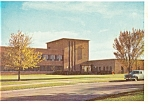 Click here to enlarge image and see more about item cs0032: Boys Town, NE, Admin. Bldg Postcard Old Car
