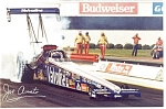 Click here to enlarge image and see more about item cs0041: Joe Amato 1990 NHRA Top Fuel Champion Postcard