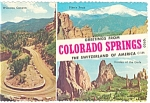Colorado Springs, CO Three View Postcard