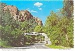 Click here to enlarge image and see more about item cs0057: Entrance Gate South Cheyenne Canon CO  Postcard cs0057