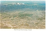 Colorado Springs, CO Aerial View Postcard