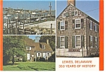 Lewes Delaware Three Views Postcard cs0063
