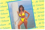 Greetings From Delaware Bathing Beauty Postcard