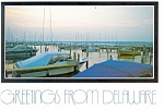 Click here to enlarge image and see more about item cs0074: Marina Scene in Delaware Postcard cs0074