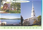 Click here to enlarge image and see more about item cs0076: Ellington CT Three View Postcard cs0076