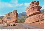 Click here to enlarge image and see more about item cs0079: Garden of the Gods CO Steamboat Rock Postcard cs0079