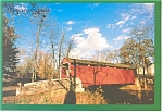 Click here to enlarge image and see more about item cs0109: One of PA s Covered Bridges Postcard cs0109