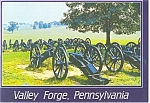 Click here to enlarge image and see more about item cs0112: Valley Forge PA ,Lunette Cannon Emplacements Postcard