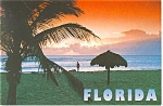 Tropical Florida Sunset Postcard cs0137
