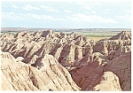 Banded Buttes,Badlands , SD Postcard