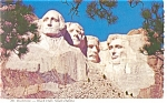 Mt Rushmore, Black Hills, SD Postcard