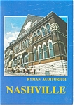 Ryman Auditorium Nashville TN Postcard cs0170