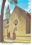 Bruton Parish Church Exterior Williamsburg  VA Postcard cs0172