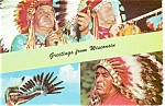 Click here to enlarge image and see more about item cs0177: Native Americans of Wisconsin Postcard cs0177