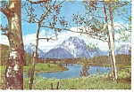 Click here to enlarge image and see more about item cs0186: Mt Moran Grand Teton National Park WY Postcard cs0186