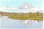 Oxbow Bend Grand Teton National Park WY Postcard cs0191