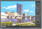 Click here to enlarge image and see more about item cs0214: Skyline of Grand Rapids MI Postcard cs0214